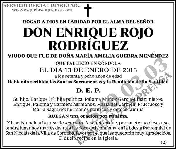 Enrique Rojo Rodríguez